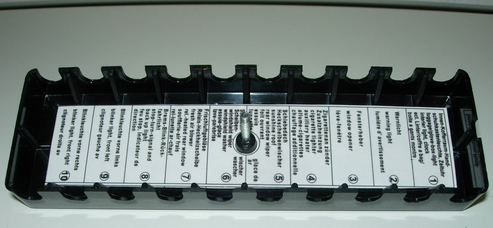 Cover For Fusebox Holder 10 Pole Tech 9 Fuse Box